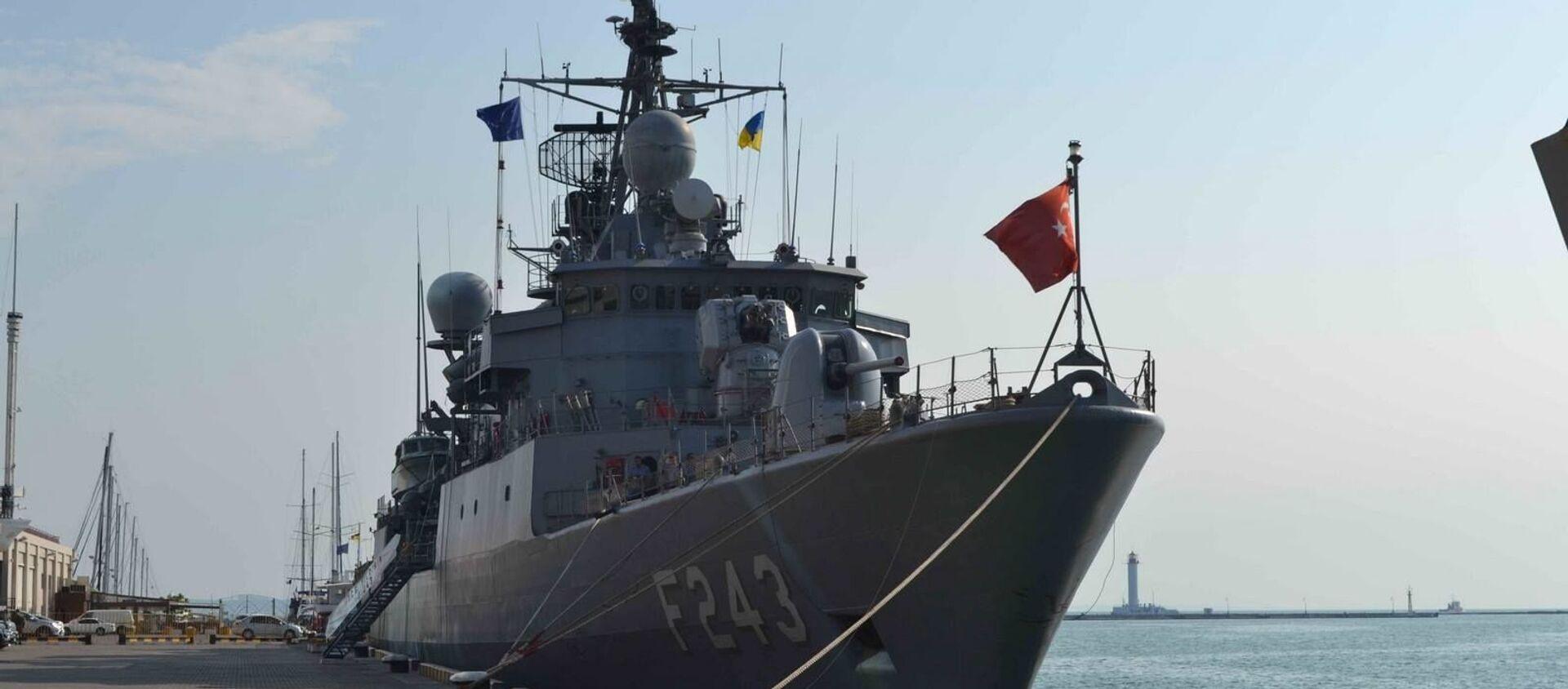 Tàu của nhóm hải quân NATO thường trực tại cảng Odessa. - Sputnik Việt Nam, 1920, 08.04.2021