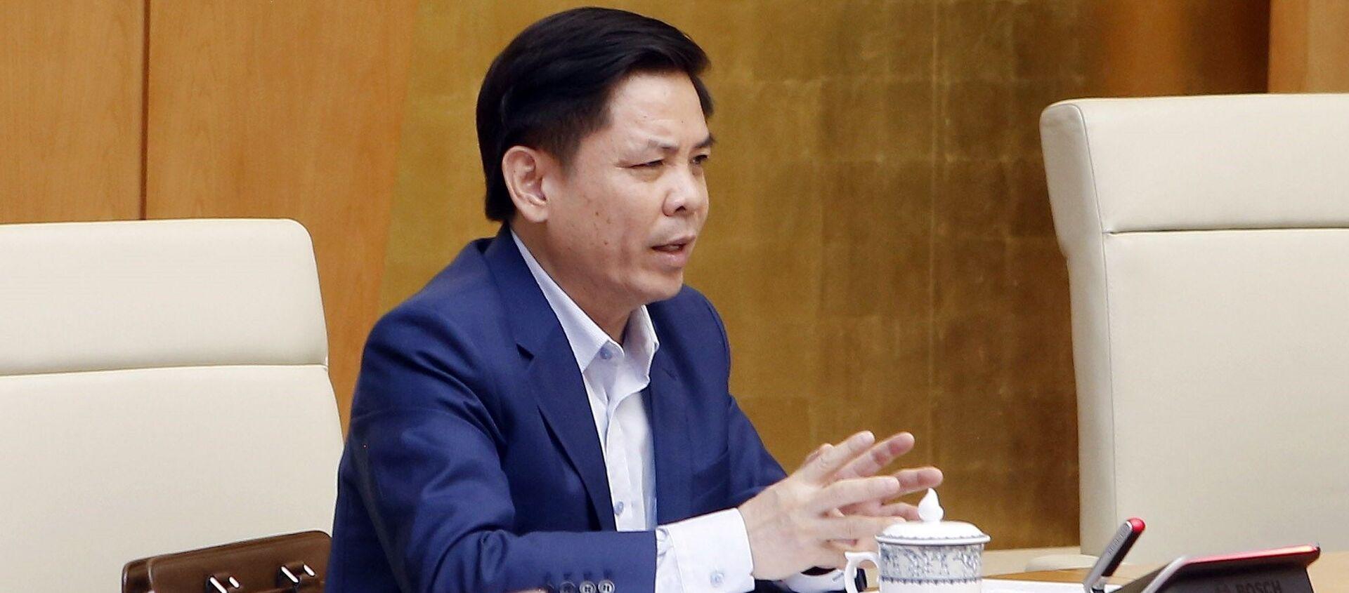 Bộ trưởng Bộ Giao thông vận tải Nguyễn Văn Thể phát biểu - Sputnik Việt Nam, 1920, 29.04.2021