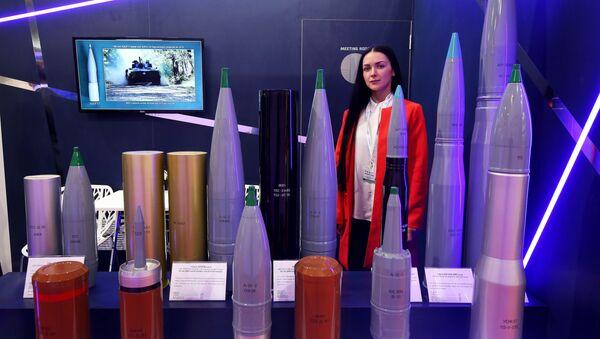 Các loại đạn pháo hạng nặng của Nga tại triển lãm quốc tế về vũ khí và thiết bị quân sự Gulf Defense & Aerospace-2017 ở Kuwait - Sputnik Việt Nam