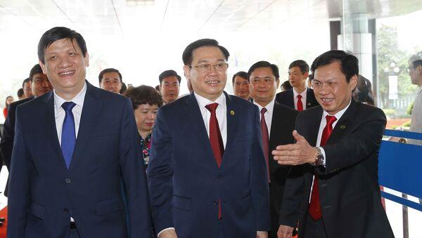 Chủ tịch Quốc hội Vương Đình Huệ dự Lễ đón nhận - Sputnik Việt Nam
