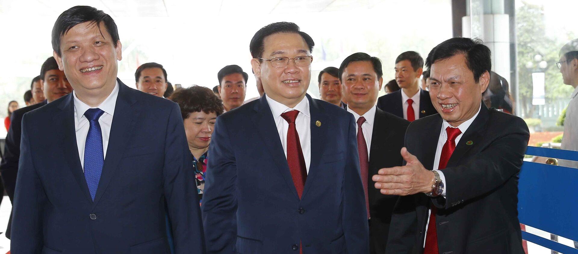 Chủ tịch Quốc hội Vương Đình Huệ dự Lễ đón nhận - Sputnik Việt Nam, 1920, 11.04.2021