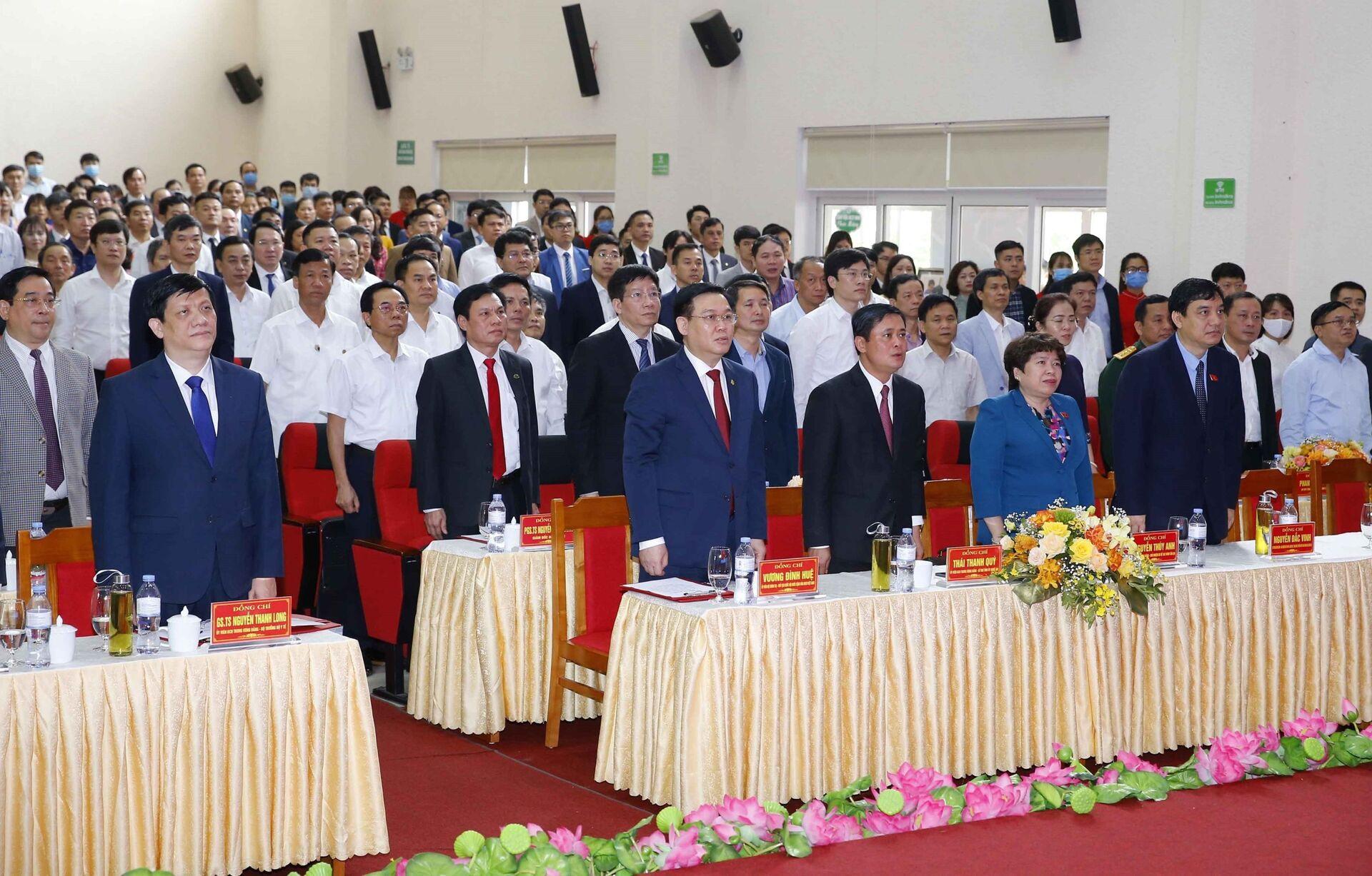 Chủ tịch Quốc hội Vương Đình Huệ thăm và làm việc tại tỉnh Nghệ An - Sputnik Việt Nam, 1920, 11.04.2021