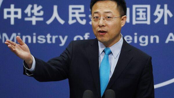 Người phát ngôn Bộ Ngoại giao Trung Quốc Triệu Lập Kiên (Zhao Lijian). - Sputnik Việt Nam