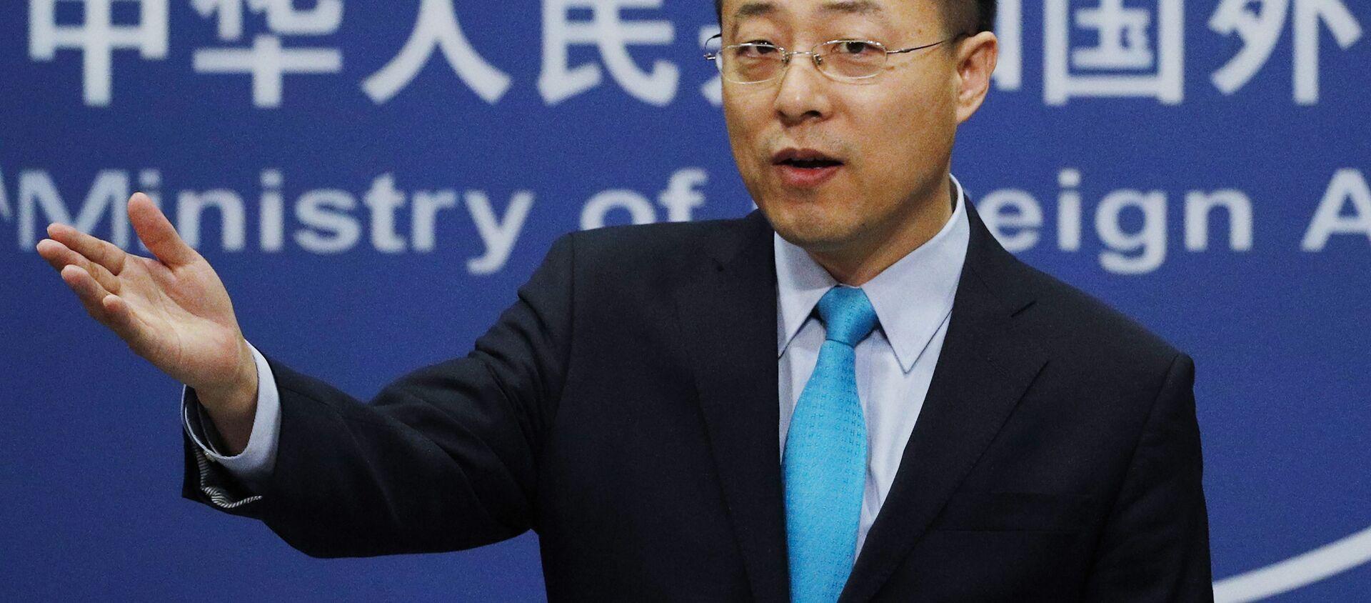 Người phát ngôn Bộ Ngoại giao Trung Quốc Triệu Lập Kiên (Zhao Lijian). - Sputnik Việt Nam, 1920, 20.05.2021