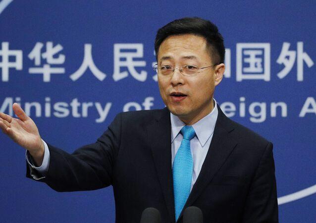 Người phát ngôn Bộ Ngoại giao Trung Quốc Triệu Lập Kiên (Zhao Lijian).