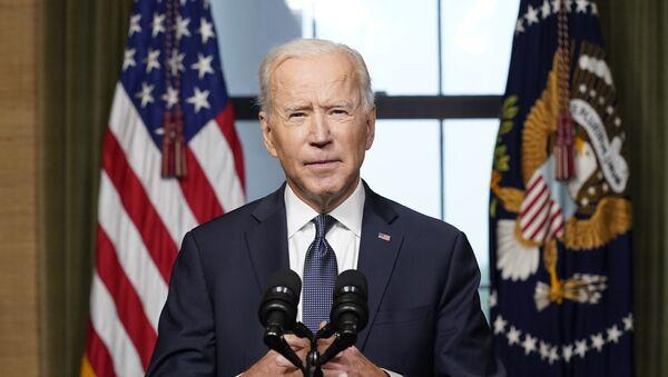 Tổng thống Joe Biden phát biểu từ Phòng Hiệp ước ở Nhà Trắng vào Thứ Tư, ngày 14 tháng 4 năm 2021, về việc rút phần còn lại của Hoa Kỳ. quân đội từ Afghanistan. - Sputnik Việt Nam