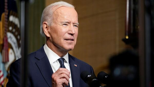 U.S. President Joe Biden leaves delivers remarks on his plan to withdraw American troops from Afghanistan, at the White House, Washington, U.S., April 14, 2021. - Sputnik Việt Nam