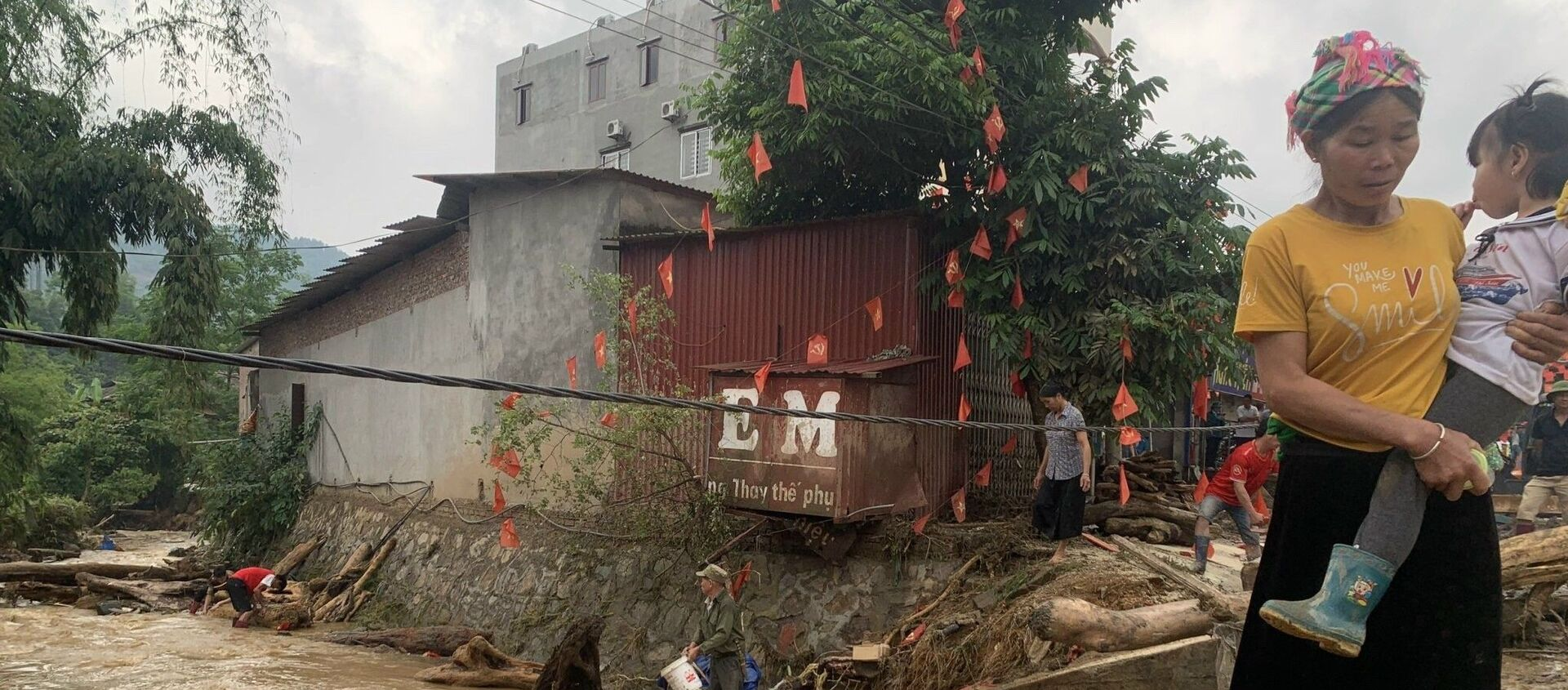 Mưa lũ gây nhiều thiệt hại tại Lào Cai. - Sputnik Việt Nam, 1920, 24.05.2021