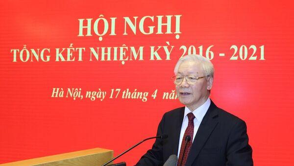 Tổng Bí thư Nguyễn Phú Trọng phát biểu tại Hội nghị. - Sputnik Việt Nam