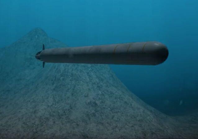 """Tàu ngầm hạt nhân không người lái """"Poseidon""""."""