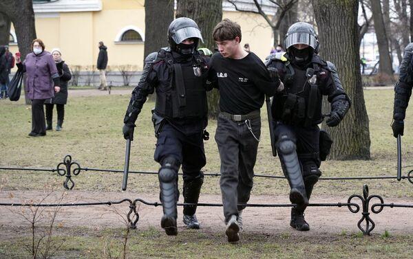Biểu tình bất hợp pháp ở St.Petersburg - Sputnik Việt Nam