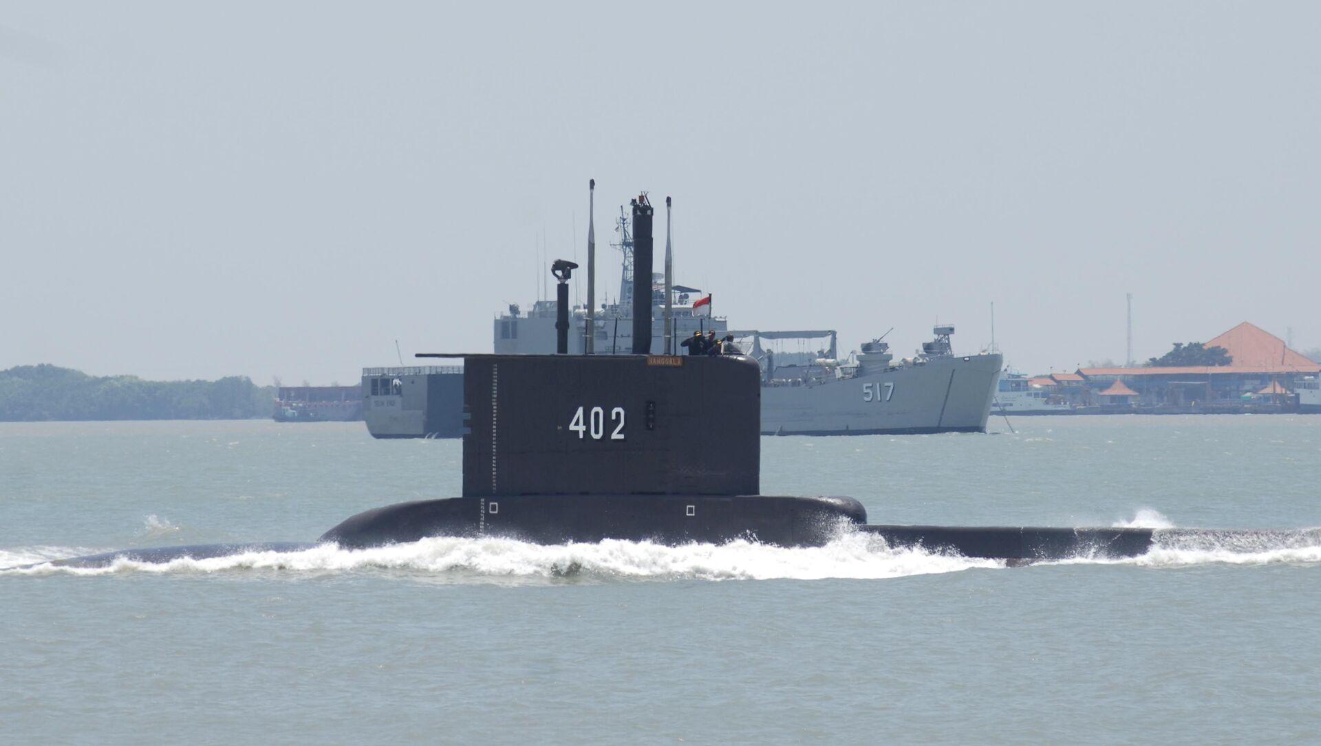 Tàu ngầm KRI Nanggala 402 của Indonesia. - Sputnik Việt Nam, 1920, 22.04.2021