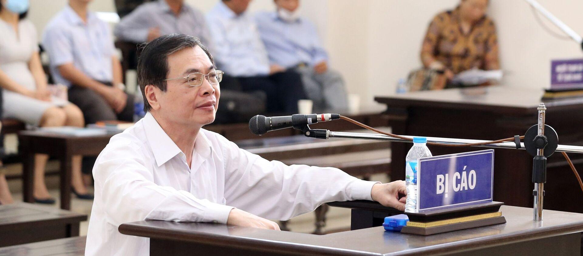 Bị cáo Vũ Huy Hoàng (cựu Bộ trưởng Bộ Công Thương) trả lời câu hỏi của Hội đồng xét xử. - Sputnik Việt Nam, 1920, 22.04.2021