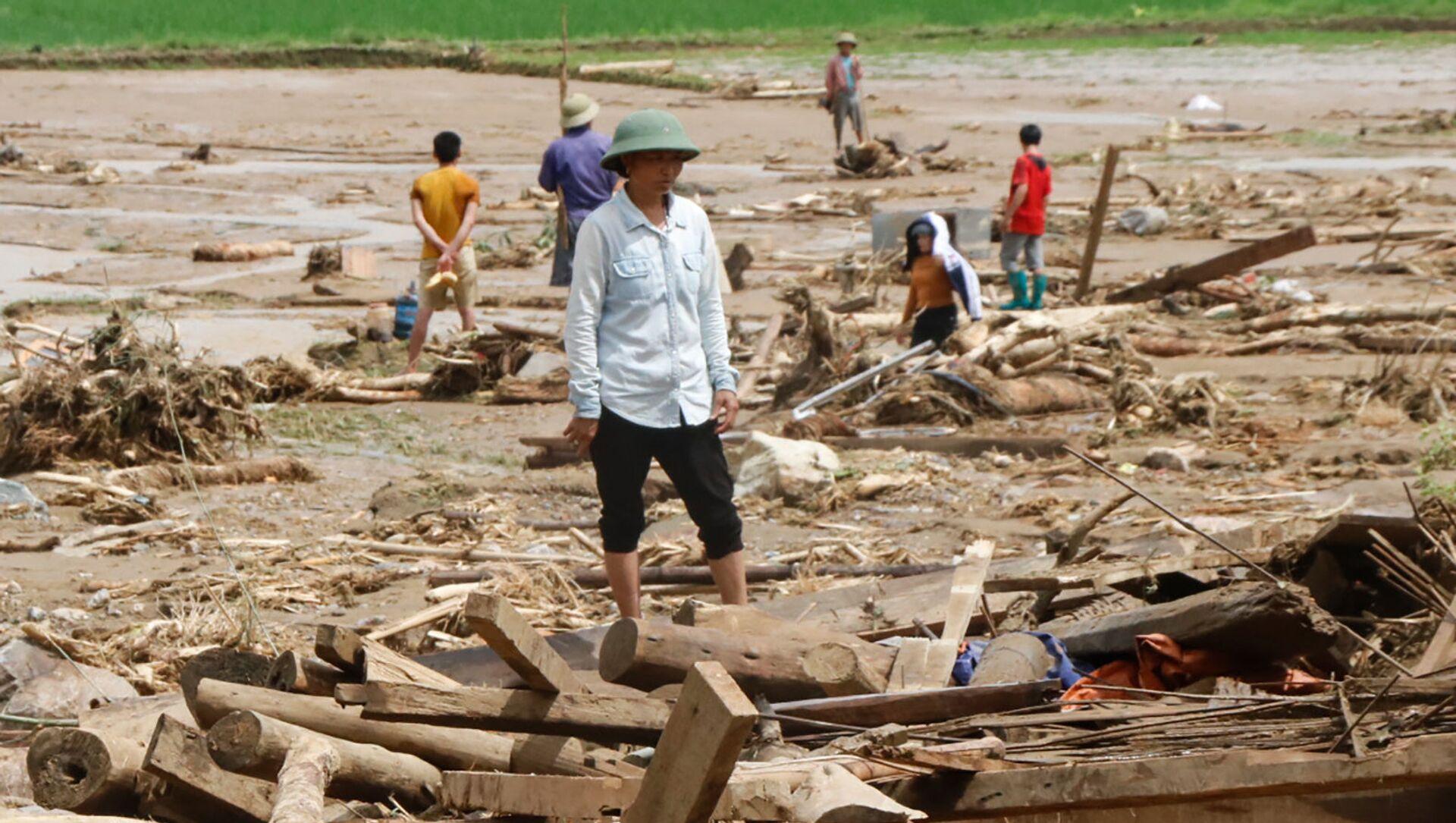 Lũ lụt tại tỉnh Yên Bái, Việt Nam - Sputnik Việt Nam, 1920, 24.04.2021
