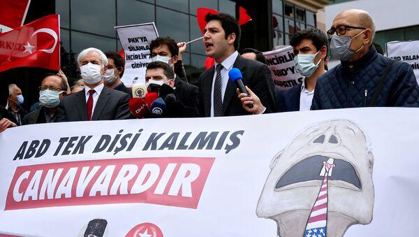 Biểu tình bên ngoài Đại sứ quán Mỹ ở Ankara, Thổ Nhĩ Kỳ. - Sputnik Việt Nam