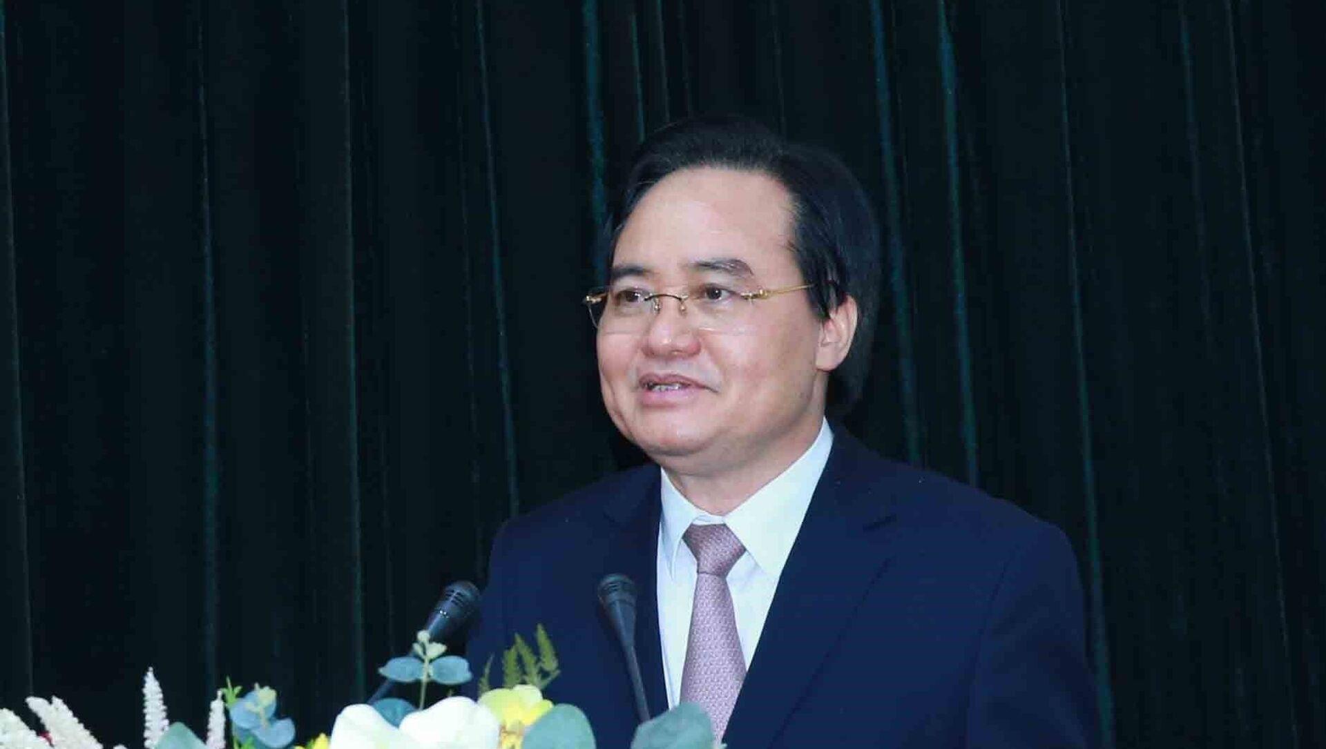 Đồng chí Phùng Xuân Nhạ, Phó Trưởng Ban Tuyên giáo Trung ương phát biểu tại hội nghị.  - Sputnik Việt Nam, 1920, 27.04.2021