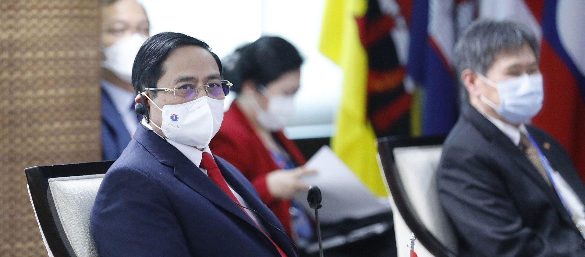 Thủ tướng Phạm Minh Chính dự Hội nghị các Nhà lãnh đạo ASEAN. - Sputnik Việt Nam, 1920, 28.04.2021