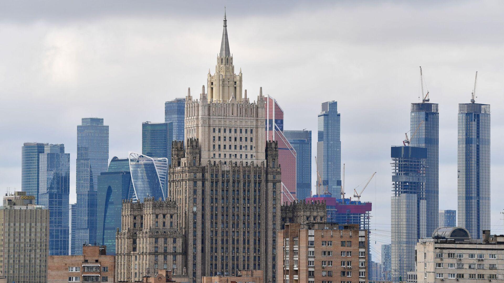 Tòa nhà của Bộ Ngoại giao Liên bang Nga và MIBC Moscow-City - Sputnik Việt Nam, 1920, 07.10.2021