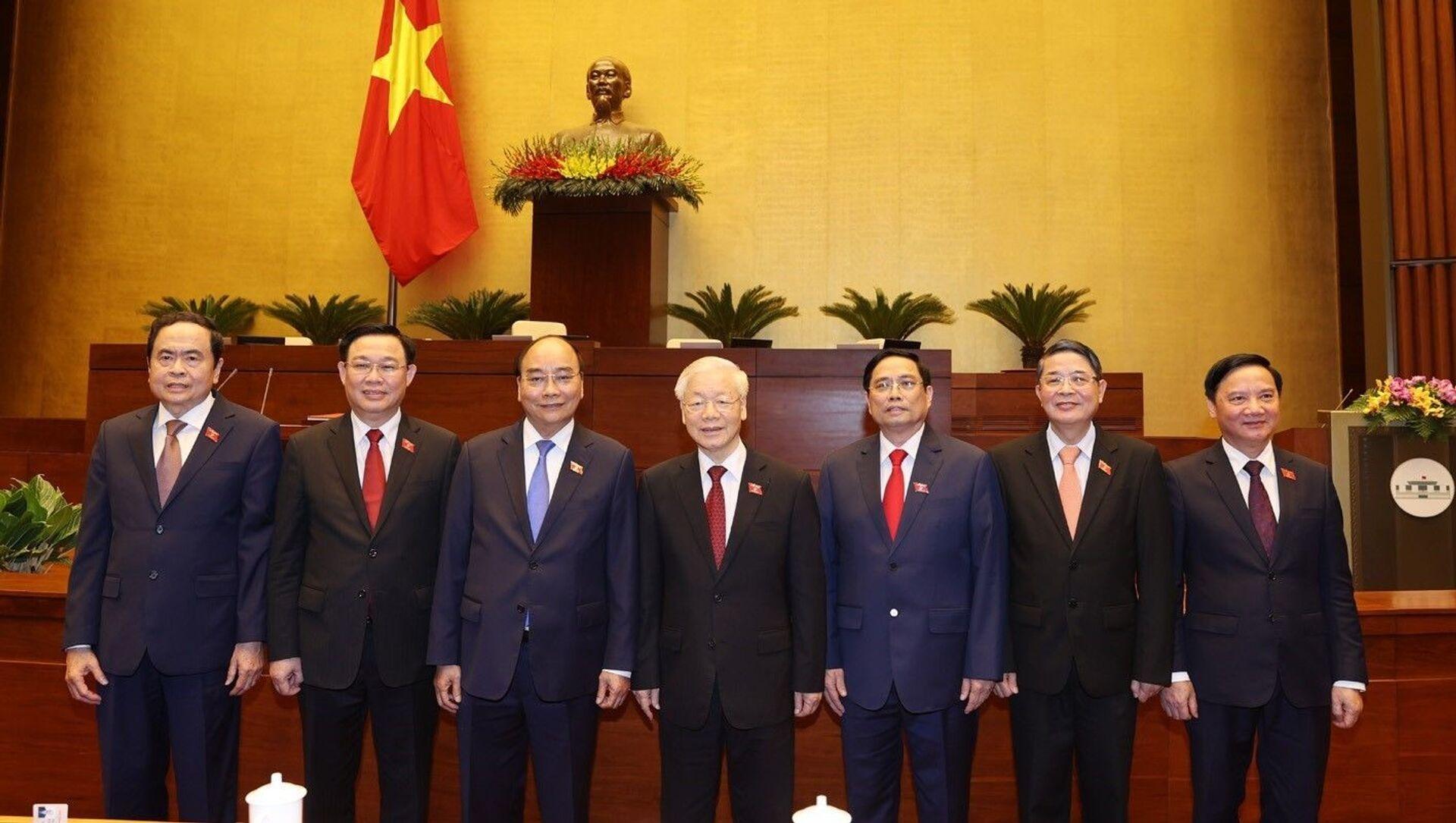 Các đồng chí lãnh đạo Đảng, Nhà nước tại phiên họp. - Sputnik Việt Nam, 1920, 28.04.2021