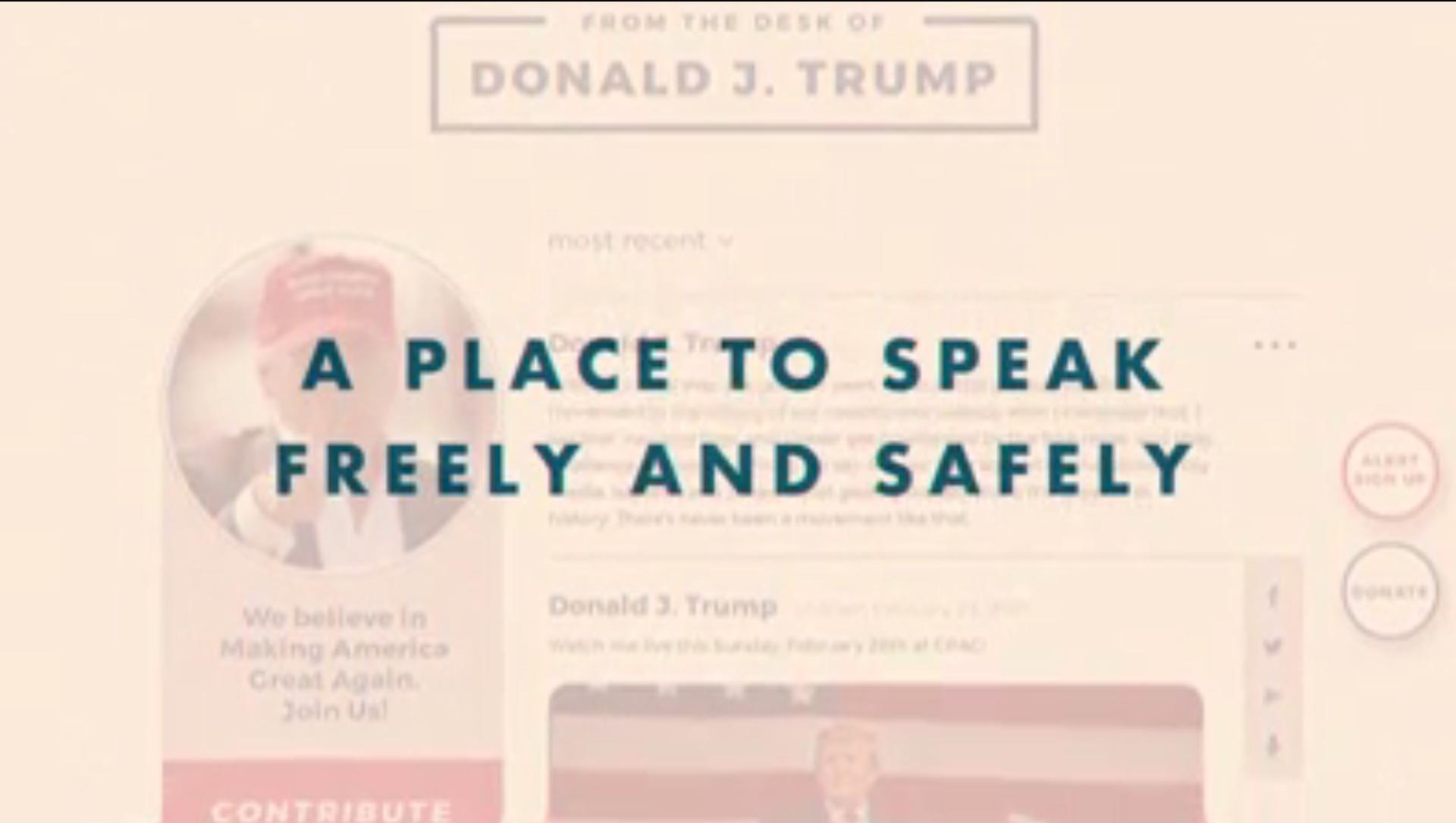 Ảnh chụp màn hình từ một video được đăng lên nền tảng truyền thông mới của Trump Từ Bàn làm việc của Donald J From the Desk of Donald J. - Sputnik Việt Nam, 1920, 05.05.2021