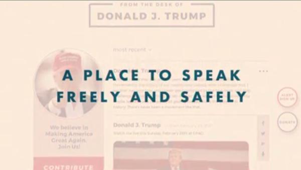 Ảnh chụp màn hình từ một video được đăng lên nền tảng truyền thông mới của Trump Từ Bàn làm việc của Donald J From the Desk of Donald J. - Sputnik Việt Nam