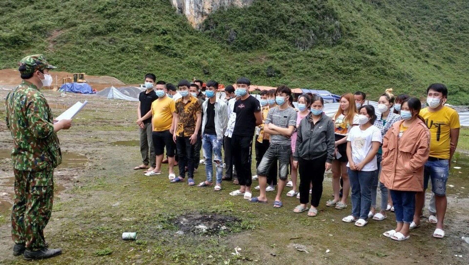 Các công dân nhập cảnh trái phép qua địa bàn xã Ngọc Chung, huyện Trùng Khánh, tỉnh Cao Bằng. - Sputnik Việt Nam, 1920, 06.05.2021