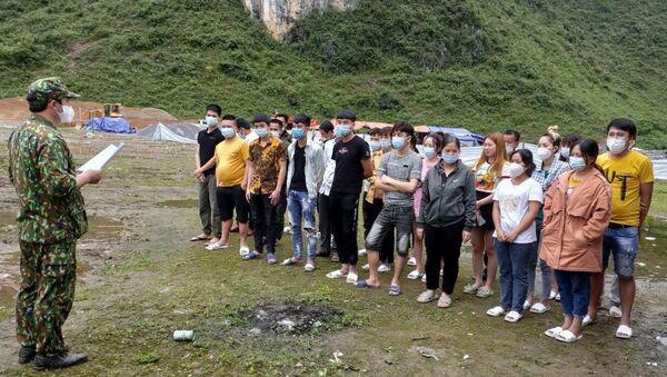 Các công dân nhập cảnh trái phép qua địa bàn xã Ngọc Chung, huyện Trùng Khánh, tỉnh Cao Bằng. - Sputnik Việt Nam