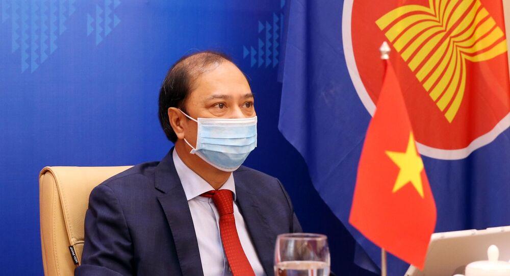 Thứ trưởng Bộ Ngoại giao Nguyễn Quốc Dũng dự Đối thoại ASEAN-Hoa Kỳ lần thứ 34 theo hình thức trực tuyến.