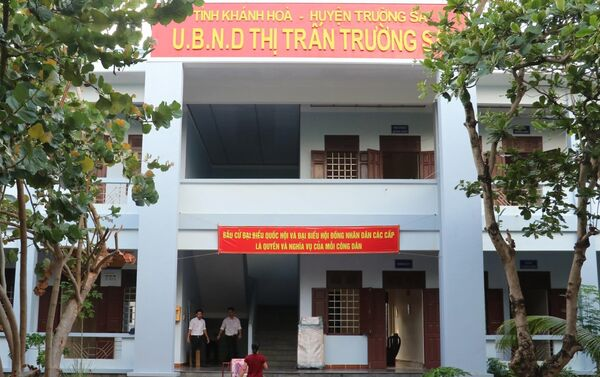 Công tác chuẩn bị công tác bầu cử tại UBND thị trấn Trường Sa. - Sputnik Việt Nam