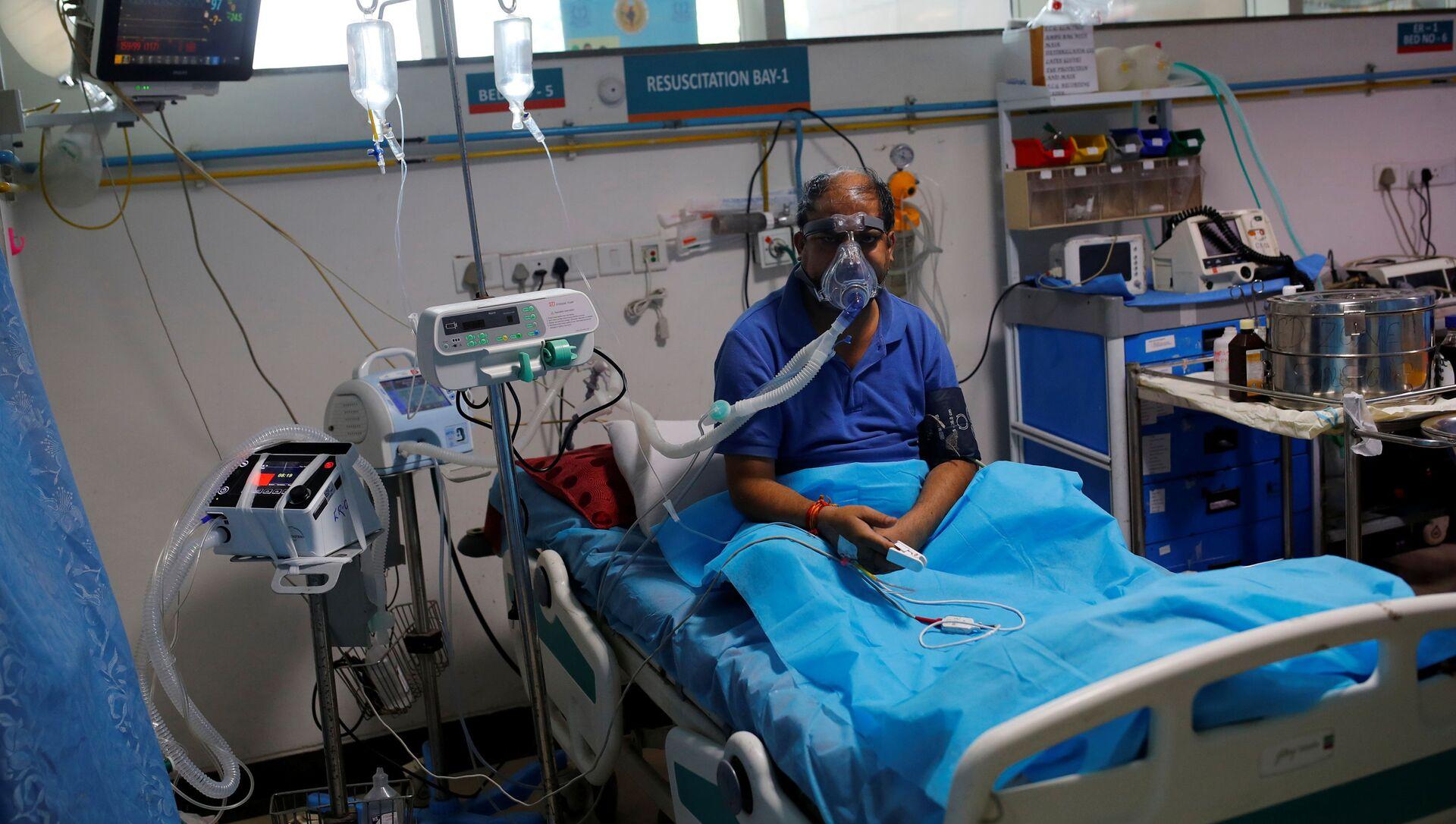 Bệnh nhận bị nhiễm coronavirus ở Ấn Độ - Sputnik Việt Nam, 1920, 10.05.2021