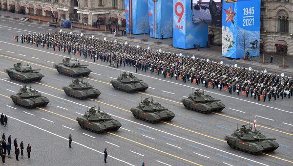 Cuộc diễu binh kỷ niệm 76 năm Chiến thắng trong Chiến tranh Vệ quốc Vĩ đại ở Moskva - Sputnik Việt Nam