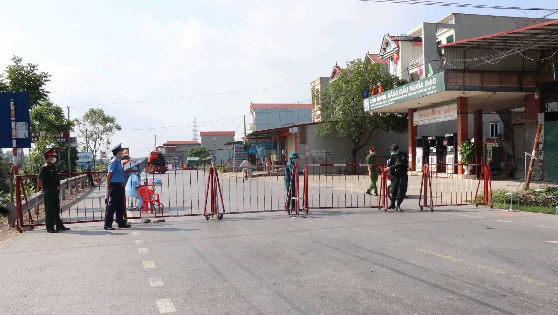 Bắc Ninh thành lập 4 chốt kiểm soát dịch COVID-19 ra vào huyện Thuận Thành - Sputnik Việt Nam, 1920, 11.05.2021