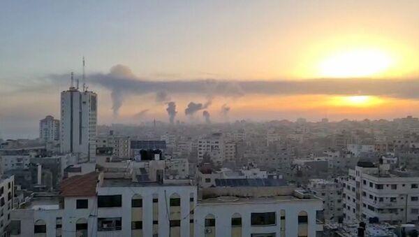 Leo thang xung đột ở Dải Gaza. Ngày 12 tháng 5 năm 2021. - Sputnik Việt Nam
