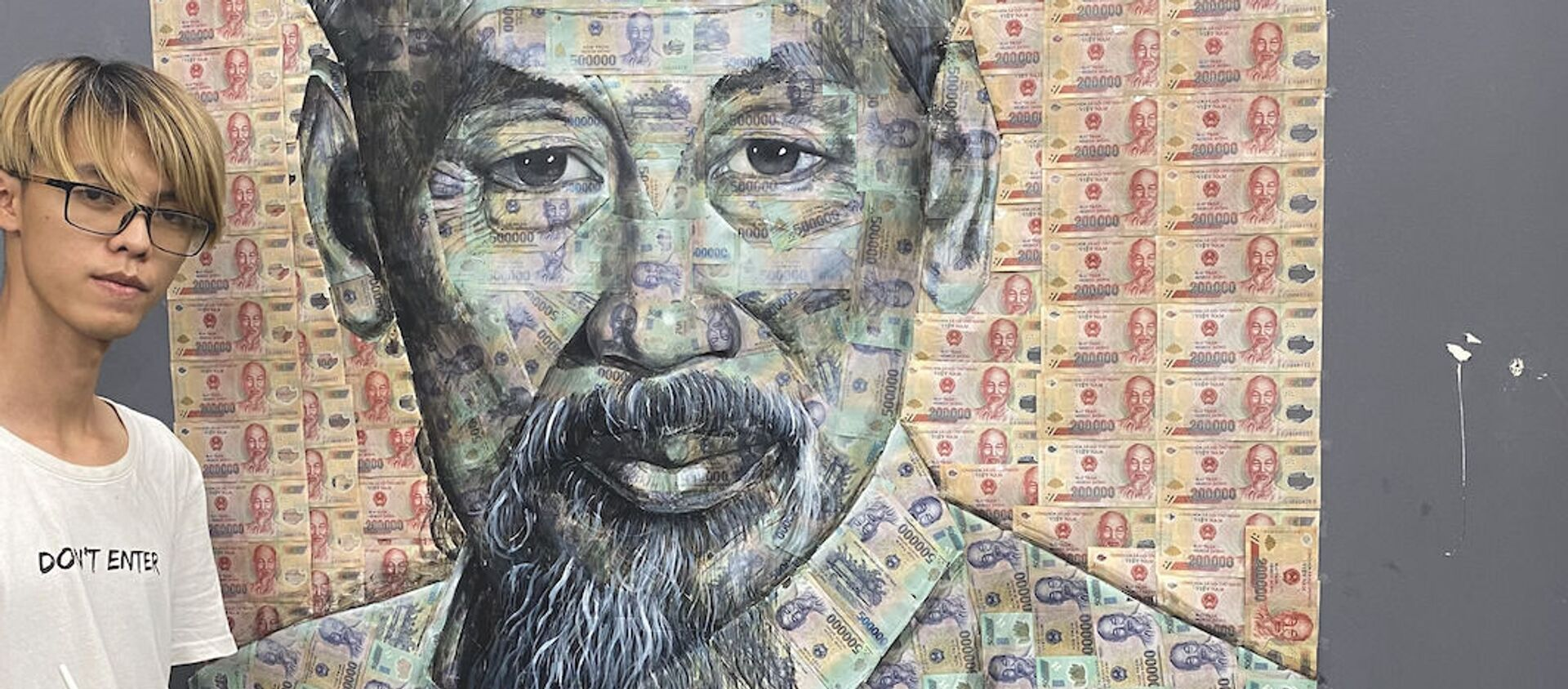 Lê Đại Phát và bức tranh Chủ tịch Hồ Chí Minh bằng tiền polymer - Sputnik Việt Nam, 1920, 12.05.2021