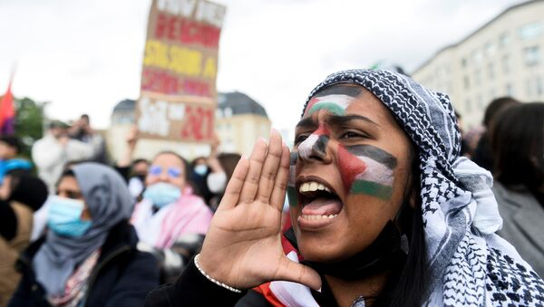 Những người ủng hộ Palestine ở Bỉ biểu tình - Sputnik Việt Nam