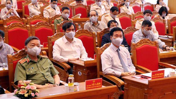 Thường trực Ban Bí thư Võ Văn Thưởng và các đại biểu tham dự hội nghị. - Sputnik Việt Nam