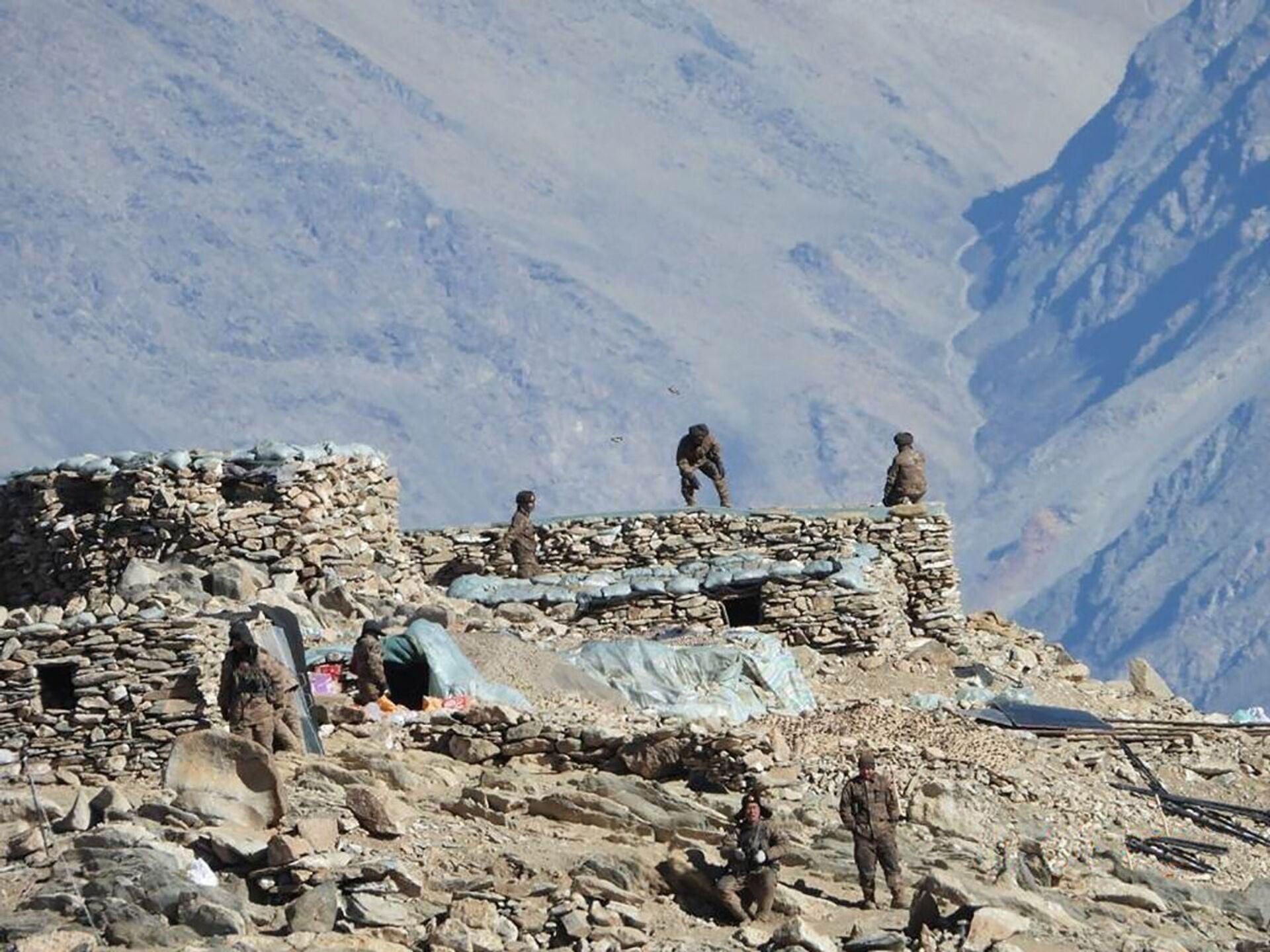Lính Trung Quốc ở khu vực Ladakh gần ranh giới Ấn-Trung. - Sputnik Việt Nam, 1920, 05.10.2021