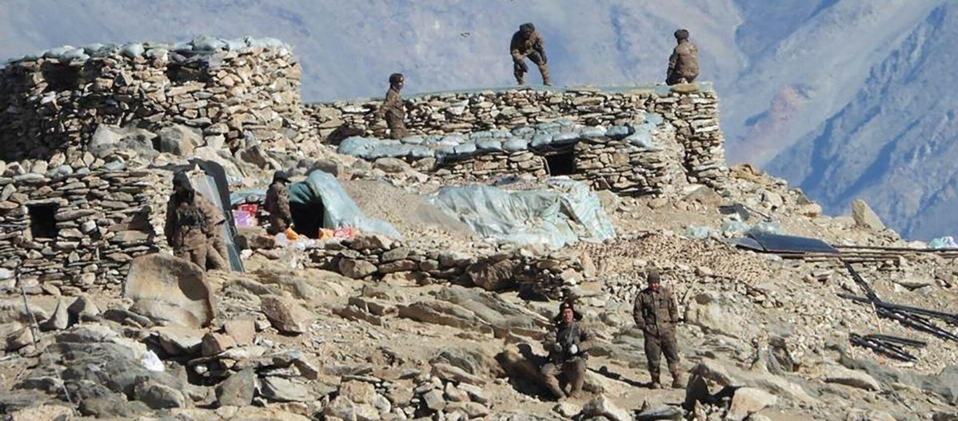 Lính Trung Quốc ở khu vực Ladakh gần ranh giới Ấn-Trung. - Sputnik Việt Nam, 1920, 01.07.2021