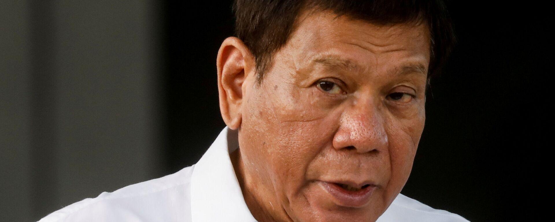 Tổng thống Philippines Rodrigo Duterte. - Sputnik Việt Nam, 1920, 02.10.2021