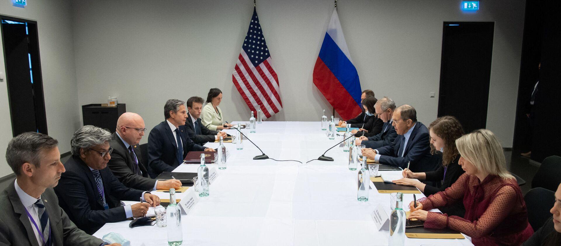 Ngoại trưởng Nga Sergei Lavrov và Ngoại trưởng Hoa Kỳ Antony Blinken - Sputnik Việt Nam, 1920, 20.05.2021