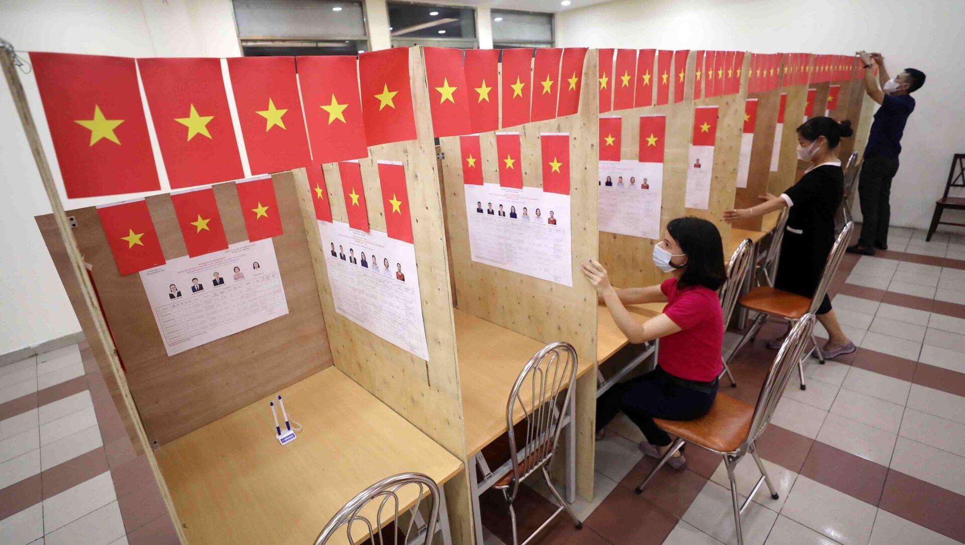 Sinh viên ngoại tỉnh ở lại Hà Nội trong ngày bầu cử đều được đảm bảo thực hiện quyền và nghĩa vụ cử tri. - Sputnik Việt Nam, 1920, 21.05.2021