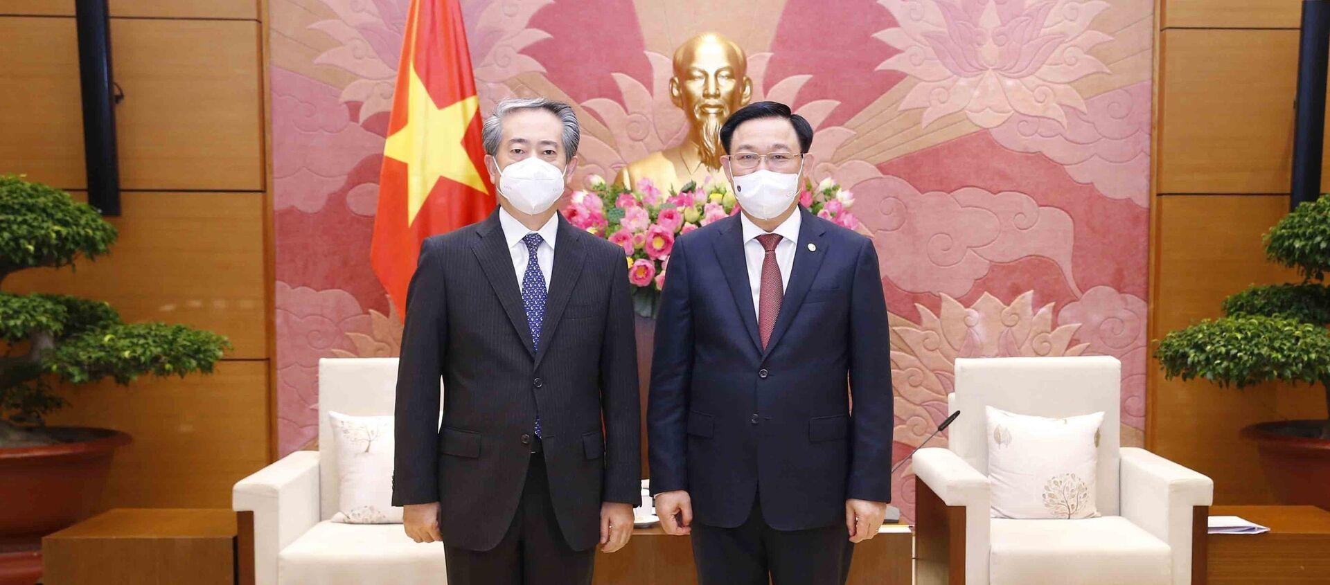Chủ tịch Quốc hội Vương Đình Huệ tiếp Đại sứ Trung Quốc tại Việt Nam - Sputnik Việt Nam, 1920, 21.05.2021