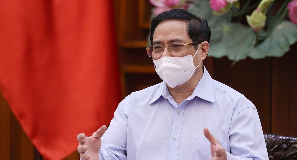 Thủ tướng Phạm Minh Chính phát biểu kết luận cuộc làm việc.