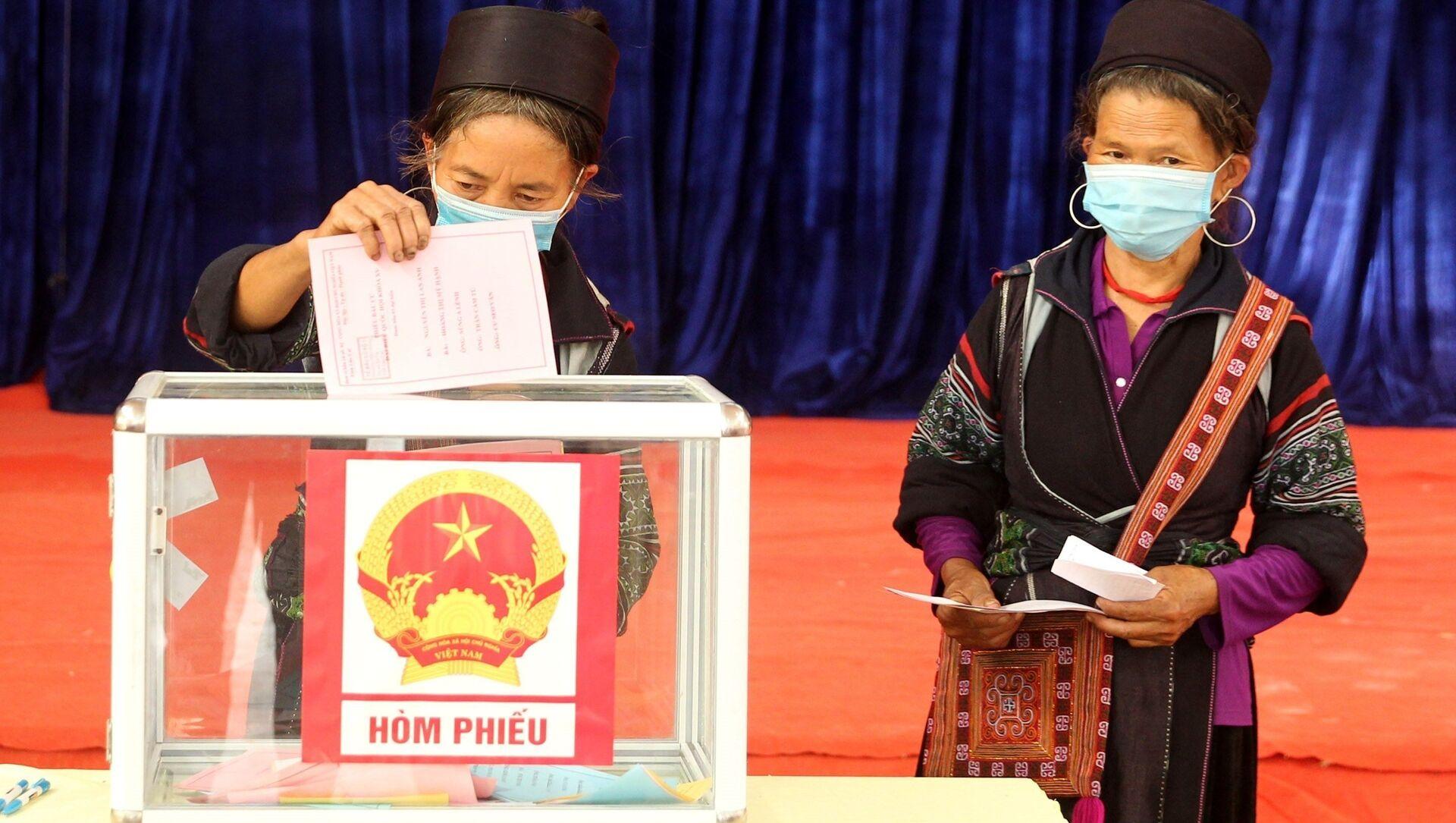 Bầu cử QH và HĐND: Tỉnh Hà Giang là địa phương có tỷ lệ đi bầu cử cao nhất cả nước - Sputnik Việt Nam, 1920, 24.05.2021