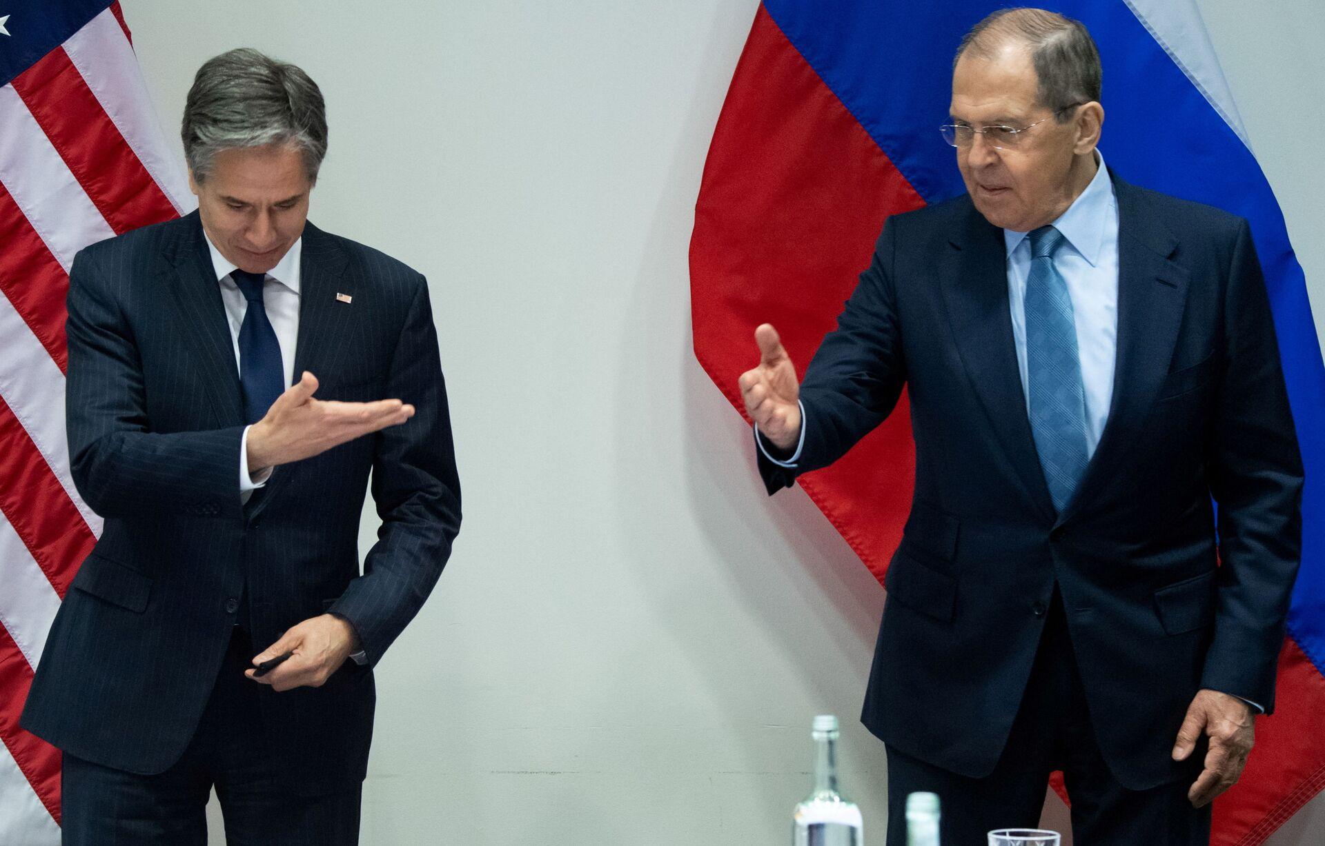 Ngoại trưởng Nga Sergei Lavrov và Ngoại trưởng Hoa Kỳ Antony Blinken - Sputnik Việt Nam, 1920, 05.10.2021