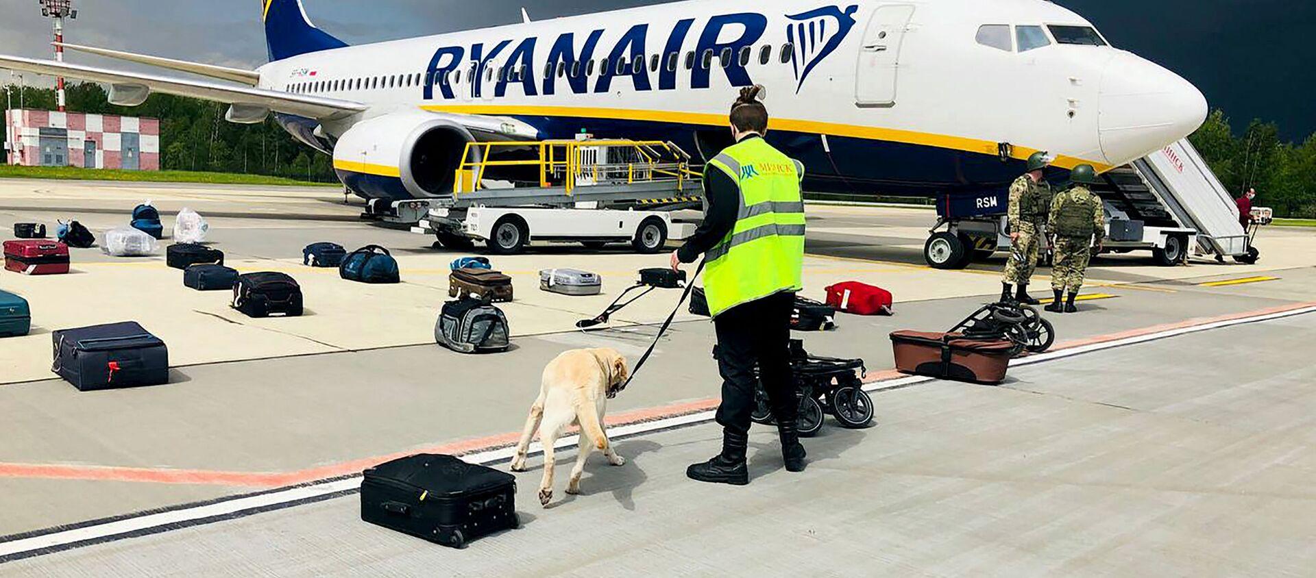 Chiếc máy bay của hãng hang không Ryanair tại sân bay Minsk. - Sputnik Việt Nam, 1920, 24.05.2021