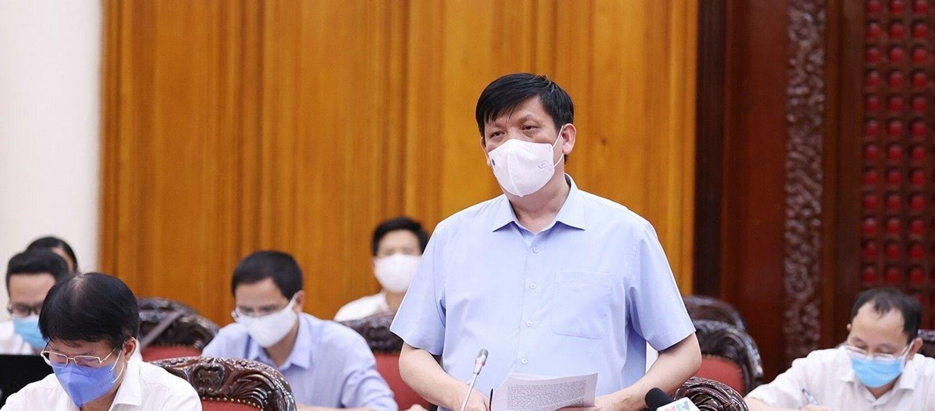 Bộ trưởng Bộ Y tế Nguyễn Thanh Long báo cáo tình hình và diễn biến dịch bệnh COVID-19. - Sputnik Việt Nam, 1920, 25.05.2021