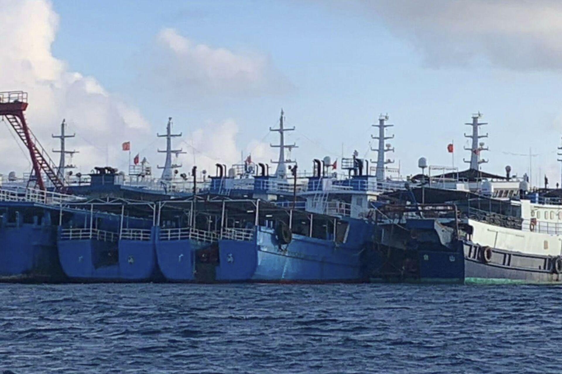 Tàu Trung Quốc cập bãi đá ngầm Whitsan ở Biển Đông - Sputnik Việt Nam, 1920, 05.10.2021