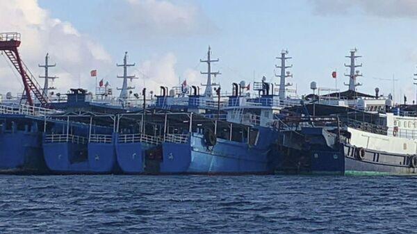 Tàu Trung Quốc cập bãi đá ngầm Whitsan ở Biển Đông - Sputnik Việt Nam