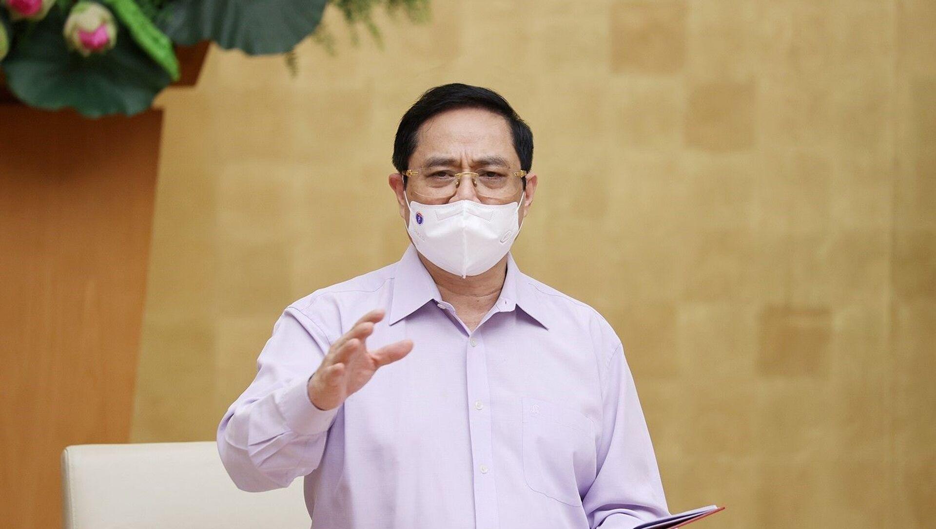 Thủ tướng Phạm Minh Chính phát biểu kết luận hội nghị. - Sputnik Việt Nam, 1920, 29.05.2021